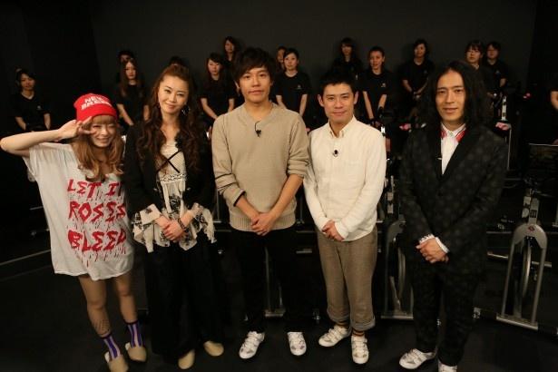 きゃりーぱみゅぱみゅ、観月ありさ、小出恵介、伊藤淳史、ピース・又吉直樹、(写真左から)