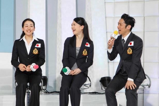会見はなごやかな雰囲気で行われ、チーム・ジャパンの仲の良さが自然にあらわれていた