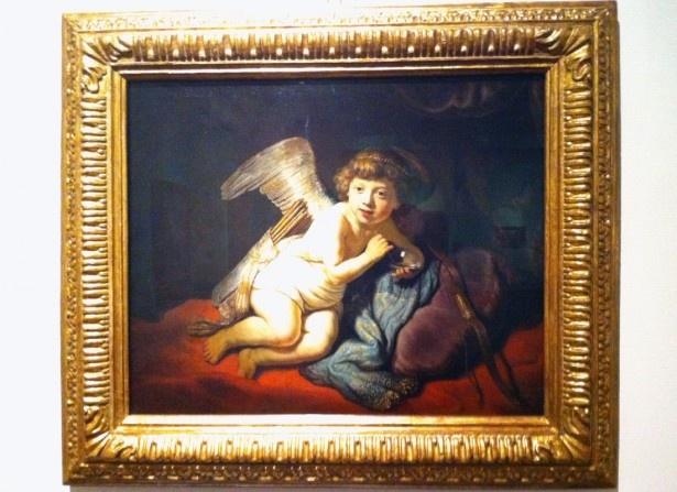 レンブラント・ハルメンスゾーン・ファン・レイン「キューピッドとしゃぼん玉」1634年