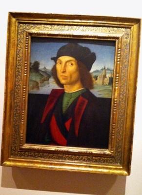 ラファエロ・サンティ「男の肖像」1502/04年頃