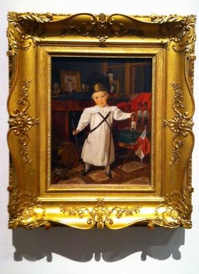 フェルディナント・ゲオルク・ヴァルトミューラー「幼き日のオーストリア皇帝フランツ・ヨーゼフ1世、おもちゃの兵隊を従えた歩兵としての肖像」1832年
