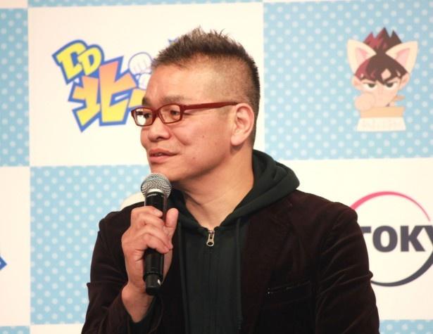 「ギャグをアニメでできる現場があまりないのでうれしかった」と明かす大地丙太郎監督