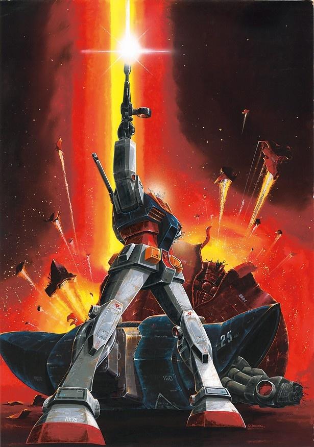 「機動戦士ガンダムIII めぐりあい宇宙編」B2判(Bタイプ)ポスター原画 1982