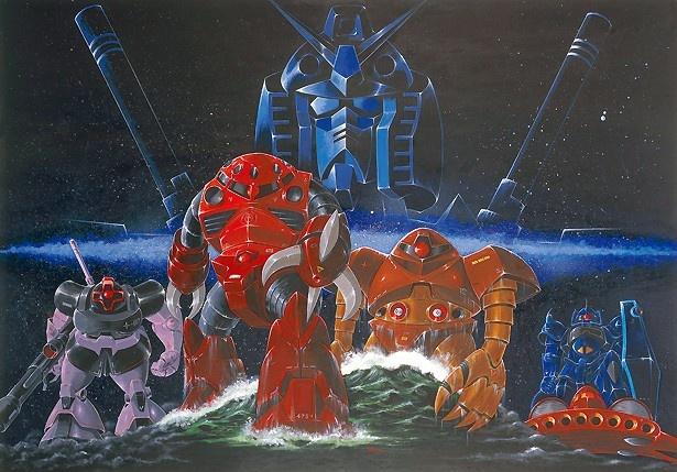 「機動戦士ガンダムII 哀・戦士編」B全判ポスター原画 1981