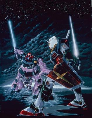 「機動戦士ガンダムII 愛・戦士編」B2判(Bタイプ)ポスター原画 1981