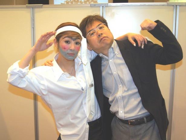 初音のおっさん(初音みのり)と小林岳夫プロデューサー(写真左から)