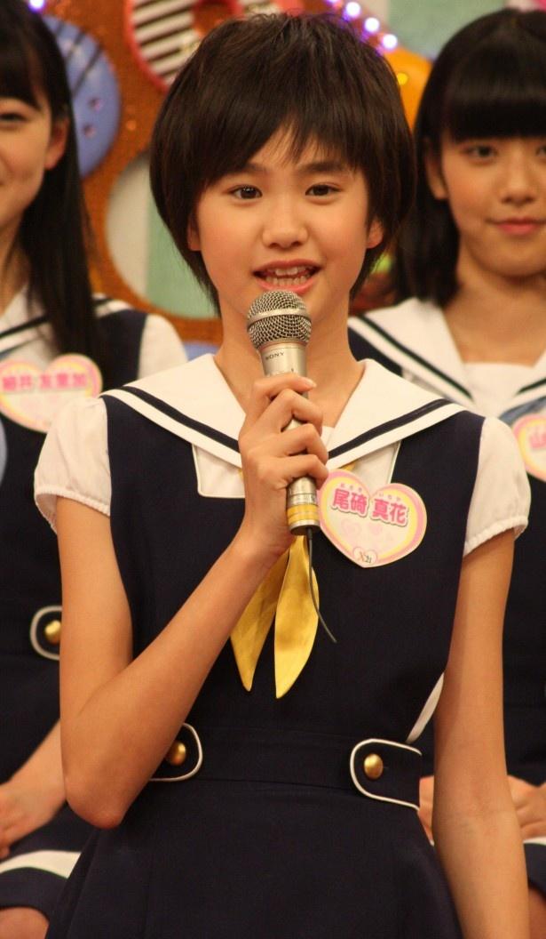 """尾碕真花は、「きょうつけてもらったニックネームは""""さきよ""""です! 武井さんからいただきました!」"""