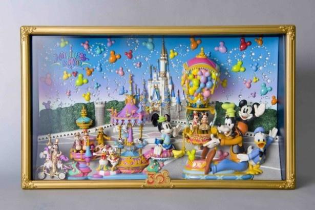 """東京ディズニーランドのパレードを再現したフィギュアディスプレイセット""""ハピネス・イズ・ヒア"""""""
