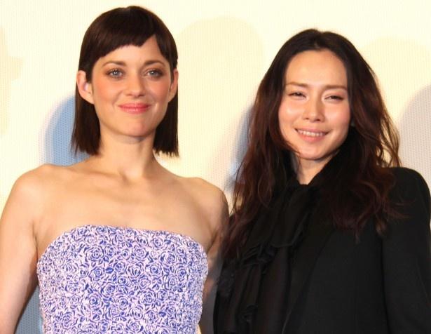 マリオン・コティヤールと中谷美紀、日仏の美人女優がそろい踏み!
