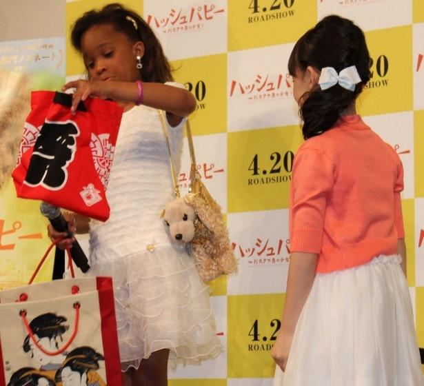 日本のハッピもプレゼント!