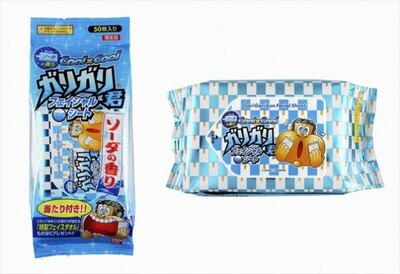 ガリガリ君の「フェイシャルシート ソーダの香り」(398円・50枚入り)