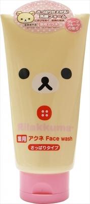 「リラックマ 洗顔フォーム アクネ」(598円)さっぱりタイプはグレープフルーツの香り