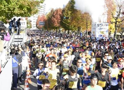 昨年2012年の「第2回 大阪マラソン」の模様