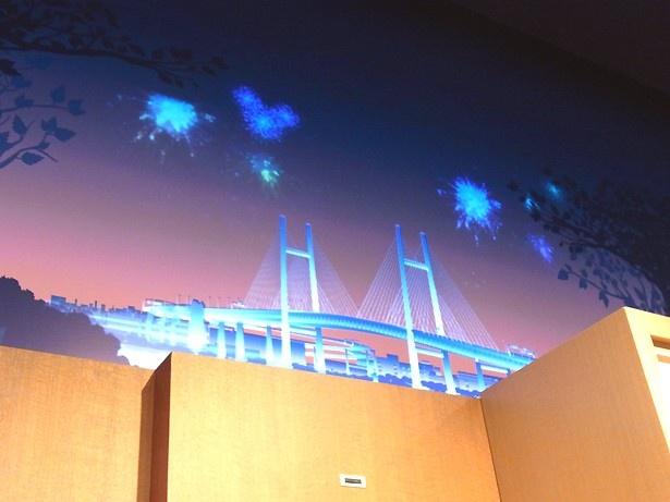 横浜ベイブリッジも描かれている