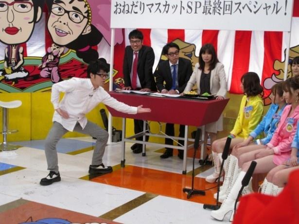 豪華ゲストが登場するたびに大喜びする恵比寿マスカッツのメンバーたち。しかし、ドランクドラゴン・鈴木拓の登場には…