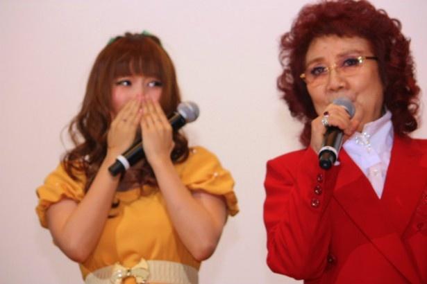 野沢雅子の挨拶に感激する中川翔子