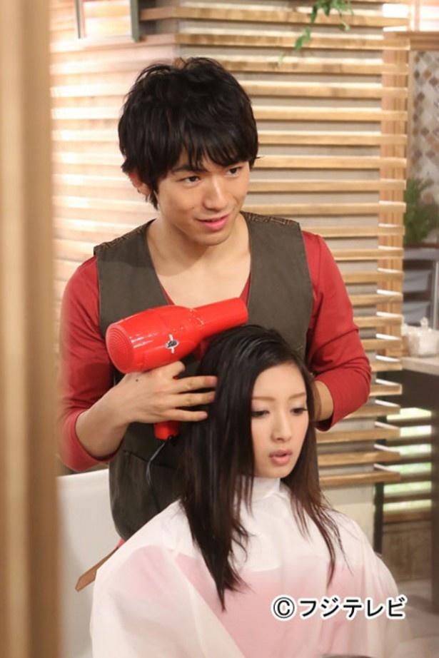 初の美容師役を演じるEXILE ・NAOTO