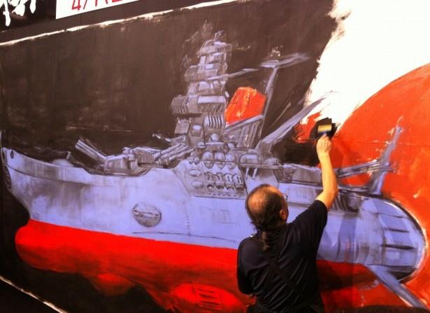 「宇宙戦艦ヤマト2199」TV放映開始記念、加藤直之氏によるライブペインティングイベント(2日目の模様)