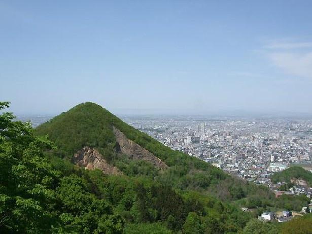 第3位の大倉山ジャンプ競技場から見た風景