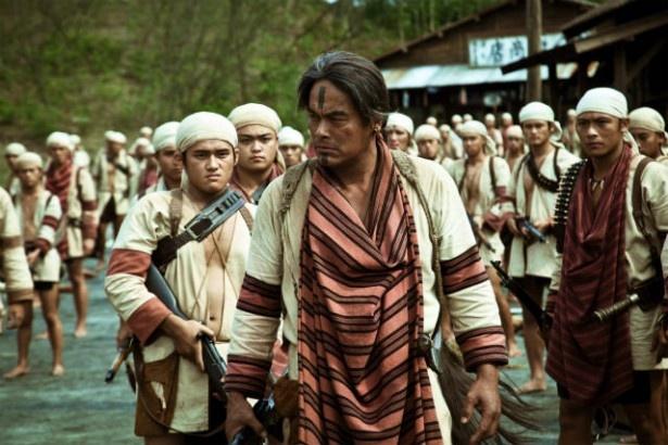 セデック族の頭目モーナ・ルダオ役のリン・チンタイ。演技初経験の原住民だ