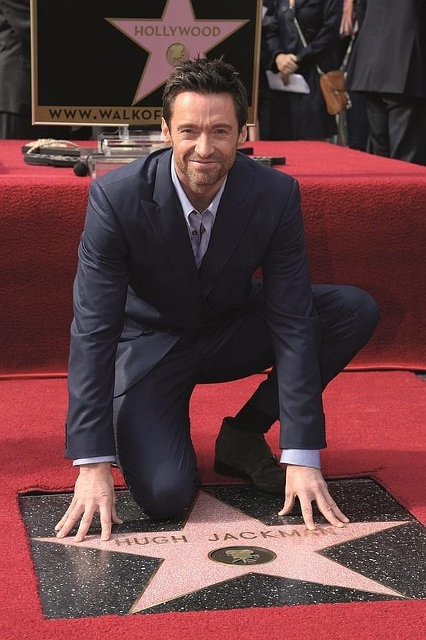 ヒュー・ジャックマンはハリウッドの名声の歩道殿堂入りを果たした