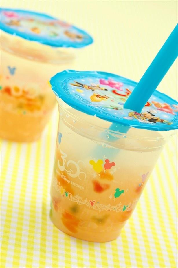 「ミッキータピオカドリンク(ピーチ&レモン)」(450円)