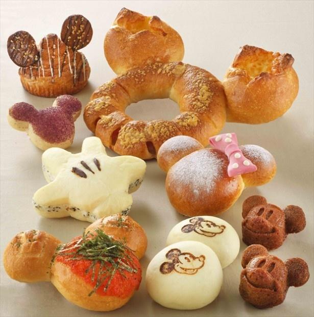 ディズニーアンバサダーホテルのポップなデリカフェ「チックタック・ダイナー」で販売される可愛いパンたち