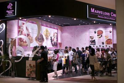 関東では、イオンレイクタウンなどにも出店中。行列することもしばしば