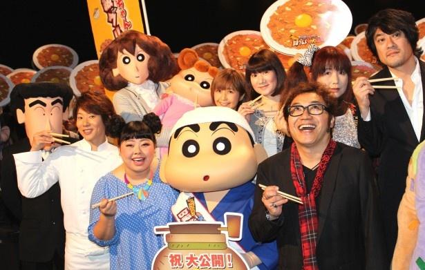 『映画クレヨンしんちゃん』最新作の舞台挨拶に声優陣がズラリ!