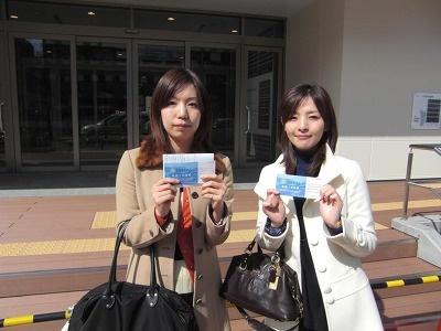 福富理恵さんと大野裕美さん。広すぎて迷っちゃった!