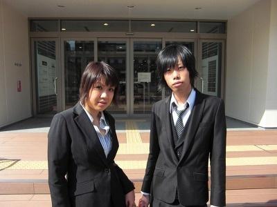 栗田絵里さんと古根村友亮さん。食事に満足