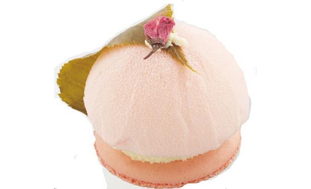桜のマカロン+桜ムース!樹杏の「桜のケーキ」¥420