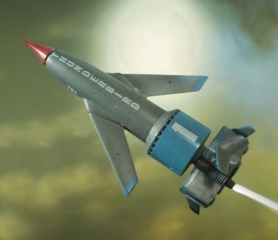 サンダーバード1号。長男スコットが担当。超音速有人ロケットで地球上のあらゆる場所に1時間以内に到着できる