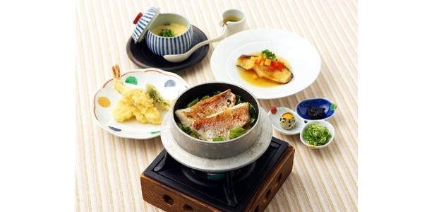 コレドで味わう「春うららか」素材 松江の味 日本橋皆美の「桜鯛炊き込み御膳」