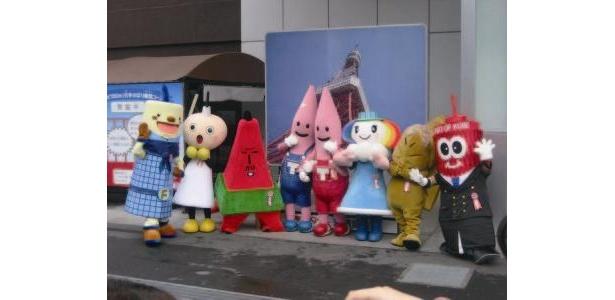 全国のタワーキャラクターたちが福岡タワーに大集合