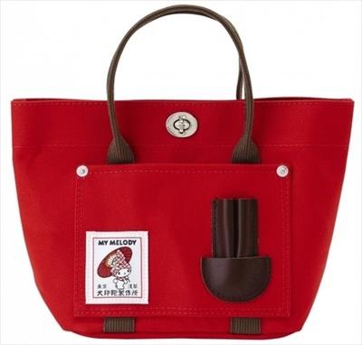 犬印鞄製作所とコラボの「バケットトートミニ(レッド)」 (5775円)