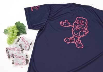 カリフォルニア・レーズン協会は、レーズンの小袋を配布。Tシャツの抽選も(東京マラソンEXPO2009)