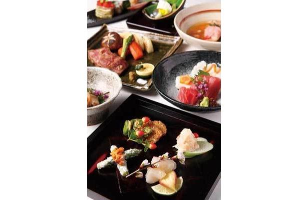 懐石料理が楽しめるディナーコースは7000円から(天空の庭 星のなる木)