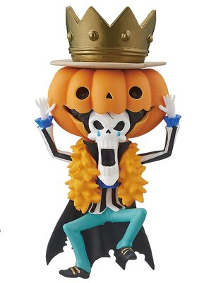 巨大なかぼちゃをかぶったブルック