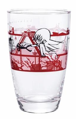 エンディング風のデザインが施されたグラス