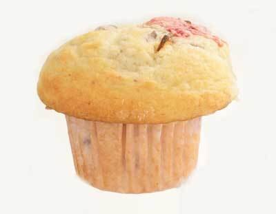 She Knows Muffin「サクラマフィン」さくらもち味(210円)はギュウヒ入り!