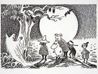 あの名場面の 数々が原画で登場。ムーミンシリーズ全9巻の4冊目。スナフキンやムーミンのパパも登場する人気作※写真はムーミンパパの思い出(1968年 インク)