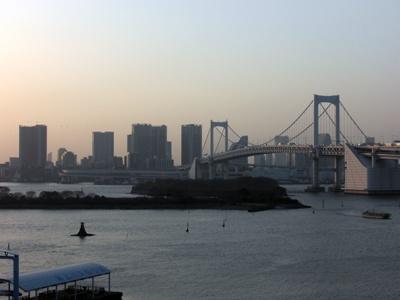 東京ジョイポリスから見る夕焼けも最高!