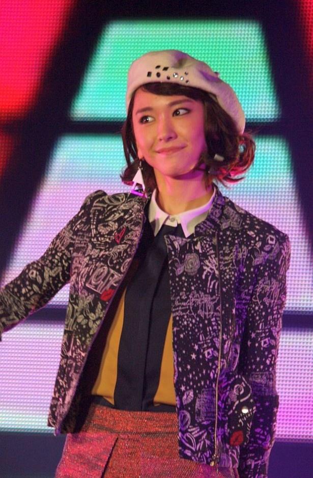 女優の新垣結衣さんが「GirlsAward 2013 AUTUMN/WINTER」に出演