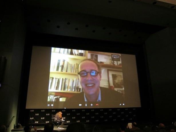 ニューヨーク映画祭でスカイプインタビューに応じたアルノー・デプレシャン監督