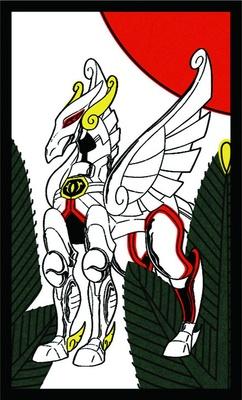 鶴の代わりに描かれた天馬星座(ペガサス)のオブジェ