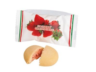 中身は苺チョコ入りのクッキー