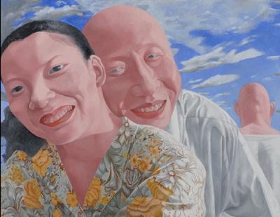 方力鈞<シリーズ2 No.8>1991-92年、油彩・カンヴァス、沖縄県立博物館・美術館蔵