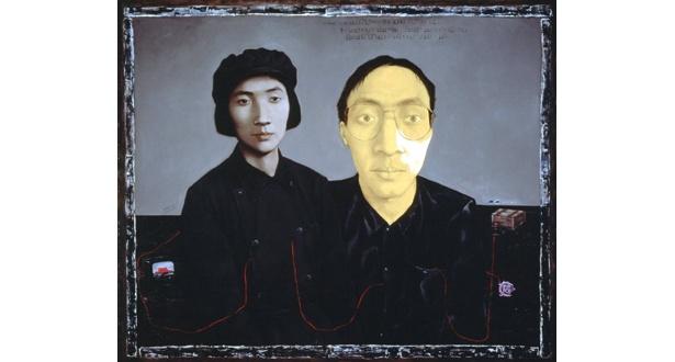 張暁剛<若い娘としての母と画家>1993年、油彩・カンヴァス、福岡アジア美術館蔵