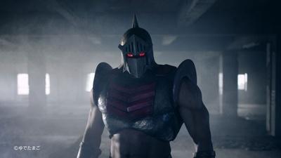 逆光のなかに佇むロビンマスク。逞しい肉体美にも注目!